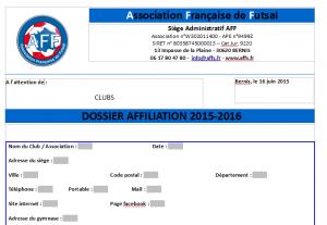 dossier affiliation 2015