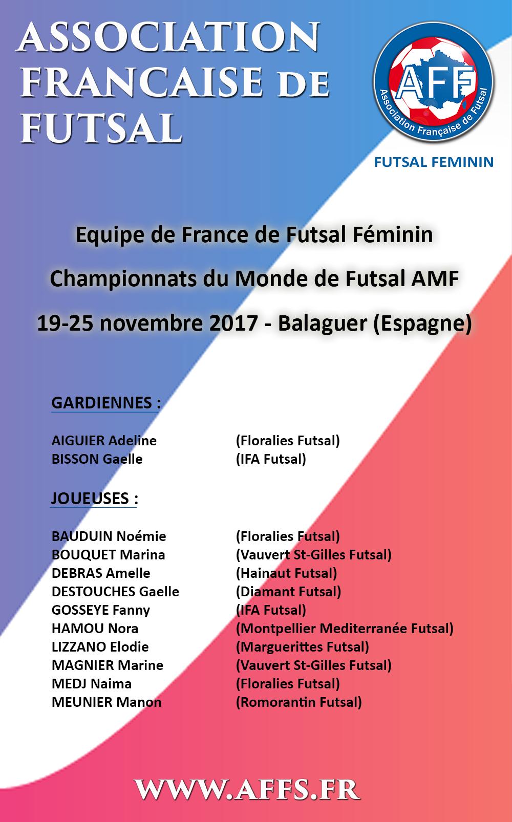 convocation-mondial-feminin-futsal