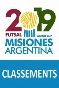 Classements Mondial AMF 2019