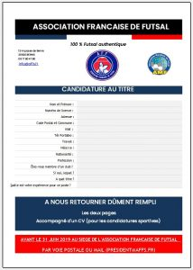 dossier candidature aff 2019-2020