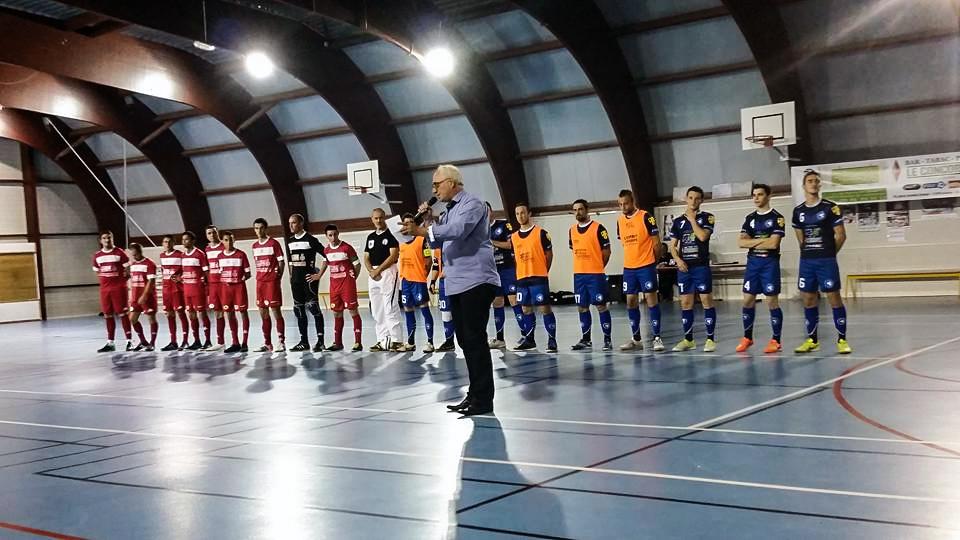Avant-match entre l'AJA Futsal et USR Futsal