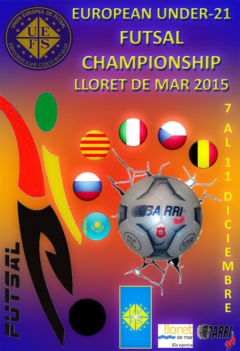 affiche U21 eurofutsal 2015