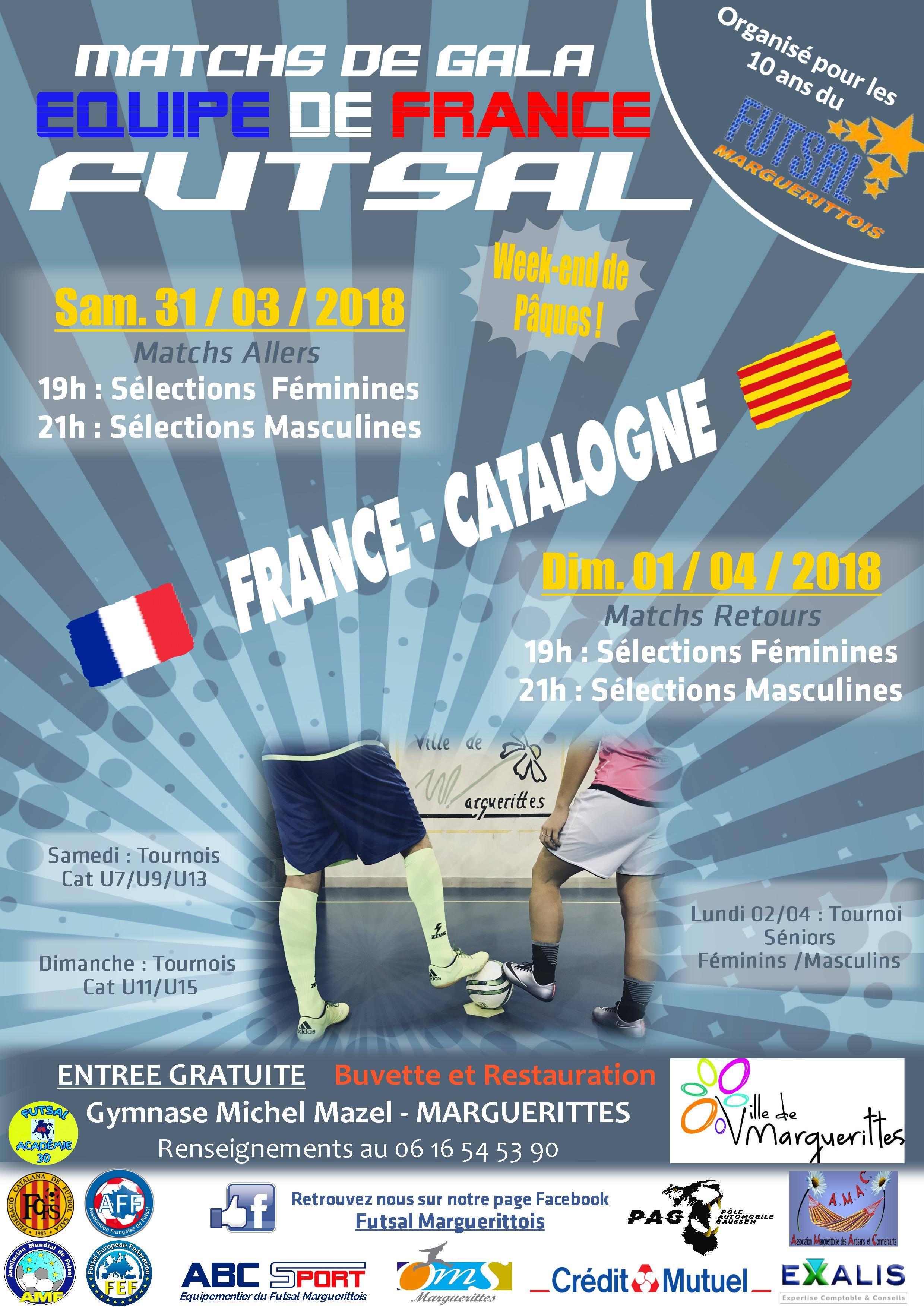 france catalogne j-1 futsal france